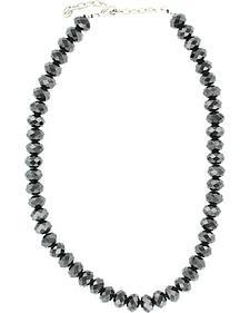 Fancy Black Beaded Necklace
