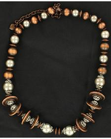 Fancy Copper-Tone & Silver-Tone Beaded Necklace