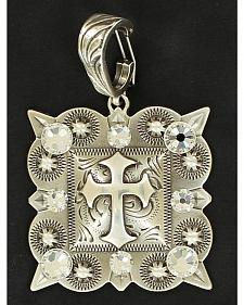 Square with Cross Necklace Pendant