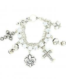 Blazin Roxx Fleur-De-Lis Charm Bracelet