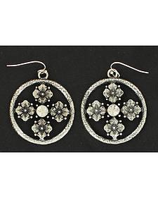 Blazin Roxx Floral Concho Earrings