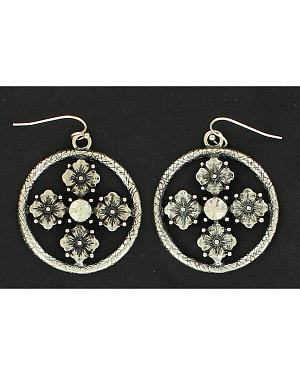 Blazin Roxx Floral Concho Earrings