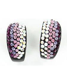 Blazin Roxx Colorful Rhinestone Hoop Earrings