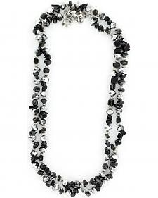 M&F Western Black Stones & Beads Necklace