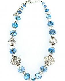 Blue & Silver Beaded Necklace