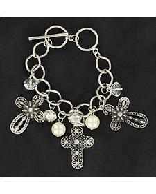 Blazin Roxx Cross Charm Bracelet
