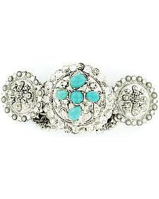 Blazin Roxx Fancy Concho w/ Faux Turquoise Stretch Bracelet