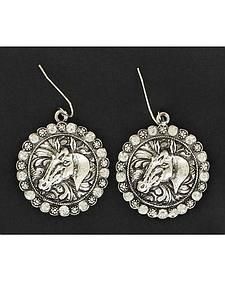 Blazin Roxx Horse Head Concho Earrings