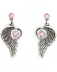 Blazin Roxx Winged Heart Earrings