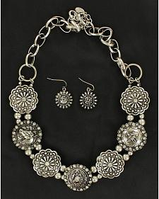 Blazin Roxx Fancy Concho Necklace & Earrings Set