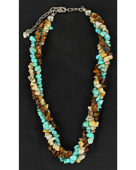 Twisted Multi Stone Beaded Necklace