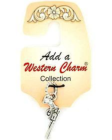 Western Charm Rhinestone Pistol Charm