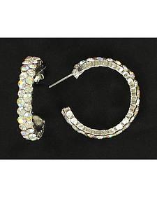 Blazin Roxx Rhinestone Hoop Earrings