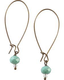 2 Queen B's So In Love Bronze Mint Earrings