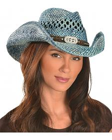 Bullhide Hats Women's Run-A-Muck Collection Blue & Wild Straw Hat