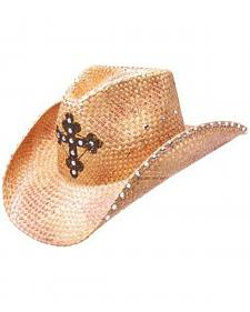 Peter Grimm Women's Darren Straw Cowgirl Hat
