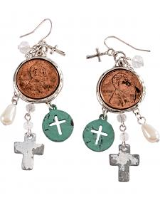 Justin Penny & Crosses Earrings