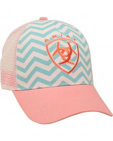 Ariat Women's Aqua and Pink Chevron Ballcap