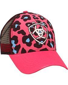 Ariat Women's Pink Leopard Print Mesh Ballcap