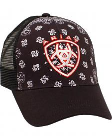 Ariat Women's Black Paisley Mesh Ballcap