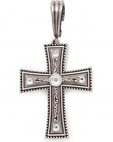 Clip-On Austrian Crystal Cross Necklace Pendant