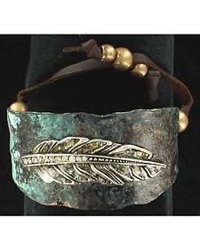 Blazin Roxx Feather Cuff Bracelet