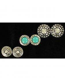Blazin Roxx 3-Pair Western Stud Earrings