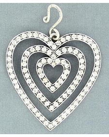 Blazin Roxx Triple Heart Rhinestone Necklace Pendant