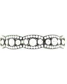 Blazin Roxx Crystal Cluster Black Stretch Bracelet