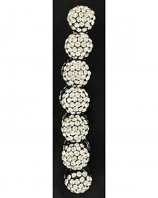 Blazin Roxx Crystal Ball Beaded Stretch Bracelet