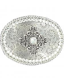 Nocona Vintage Scroll Crystal Buckle
