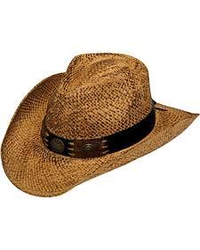 Blazin Roxx Croc Print Straw Cowgirl Hat