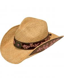 Blazin Roxx Fancy Embroidered Woven Cowgirl Hat