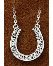 Kelly Herd Sterling Silver Horseshoe Charm Necklace
