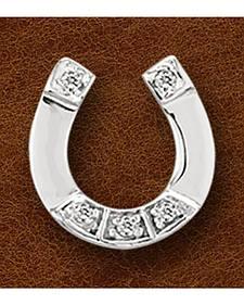 Kelly Herd Sterling Silver Rhinestone Horseshoe Pendant