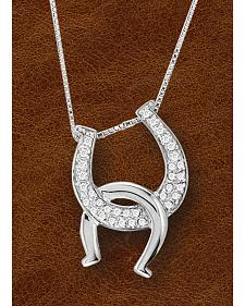 Kelly Herd Sterling Silver Interlocking Horseshoe Pendant