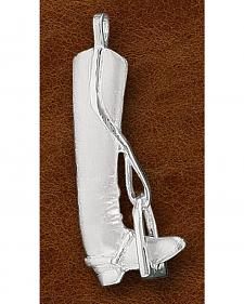 Kelly Herd Sterling Silver English Boot Pendant