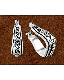 Kelly Herd Sterling Silver Stirrup Earrings