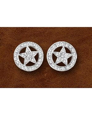 Kelly Herd Sterling Silver Western Star Earrings