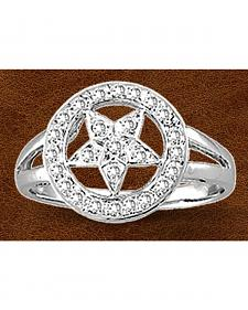 Kelly Herd Sterling Silver Rhinestone Star Ring