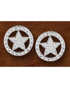 Kelly Herd Sterling Silver Western Star Earrings