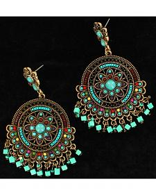 Blazin Roxx Turquoise Flair Chandelier Earrings