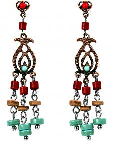 Treska Women's Cowtown Collection Small Linear Chandelier Earrings