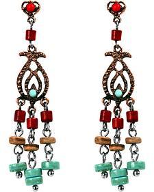 Treska Women's Cowtown Collection Small Linear Chandelier Earrings