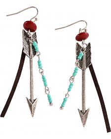 Treska Women's Arrow Beaded Drop Earrings