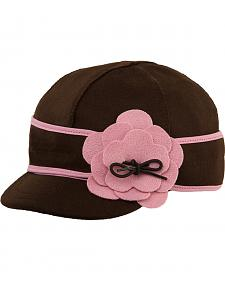Stormy Kromer Women's Chocolate & Pink Petal Pusher Cap