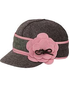Stormy Kromer Women's Charcoal & Pink Petal Pusher Cap