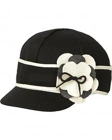Stormy Kromer Women's Black & White Petal Pusher Cap