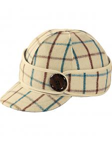 Stormy Kromer Women's Wintergreen Plaid The Button Up Cap