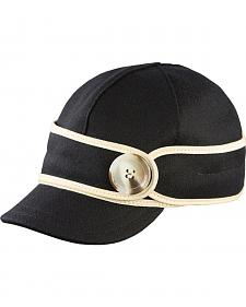 Stormy Kromer Women's Black & White The Button Up Cap